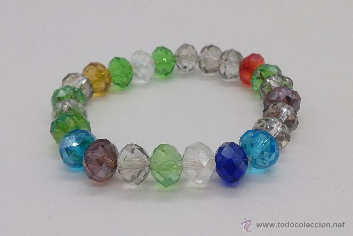Joyeria: Pulsera de cuentas de cristal austríaco facetado en multiples colores . - Foto 4 - 53268596