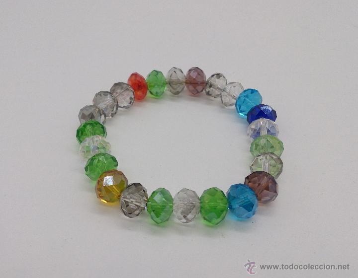 Joyeria: Pulsera de cuentas de cristal austríaco facetado en multiples colores . - Foto 5 - 53268596