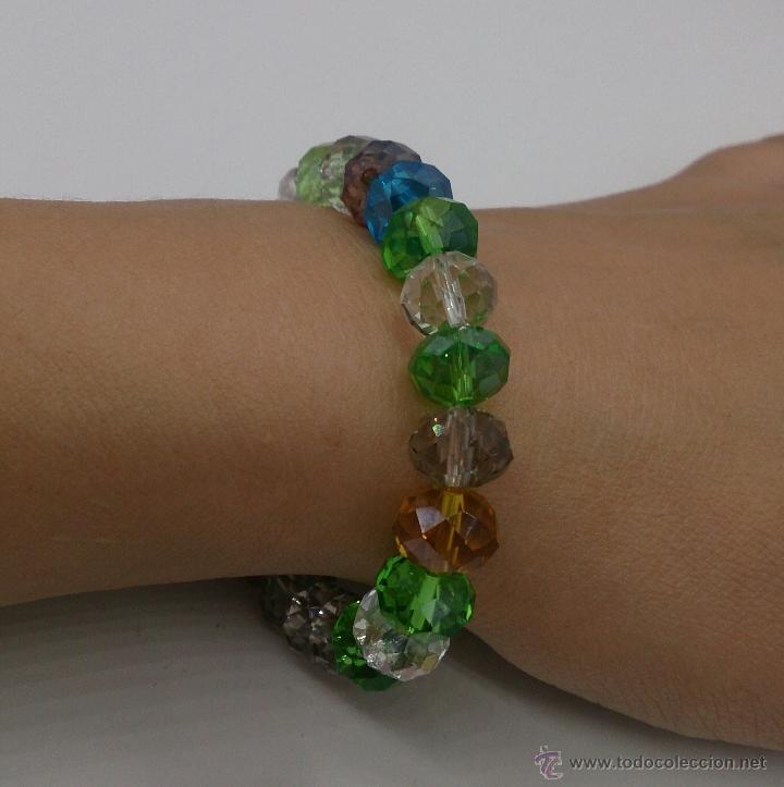 Joyeria: Pulsera de cuentas de cristal austríaco facetado en multiples colores . - Foto 6 - 53268596