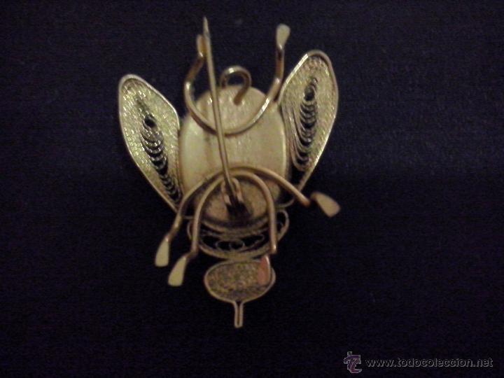 Joyeria: broche de alfiler mosca damasquinado y filigrana - Foto 2 - 53284277