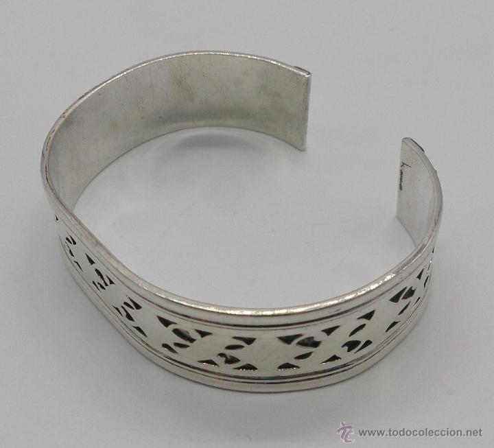 Joyeria: Brazalete en plata de ley contrastada de estilo étnico bellamente labrado . - Foto 4 - 53485998