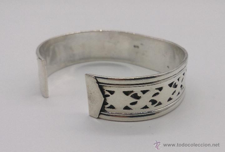 Joyeria: Brazalete en plata de ley contrastada de estilo étnico bellamente labrado . - Foto 7 - 53485998