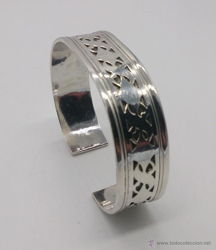 Joyeria: Brazalete en plata de ley contrastada de estilo étnico bellamente labrado . - Foto 9 - 53485998