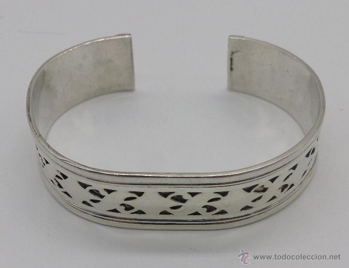 Joyeria: Brazalete en plata de ley contrastada de estilo étnico bellamente labrado . - Foto 12 - 53485998