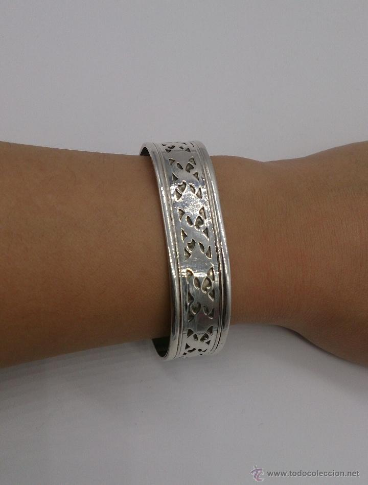Joyeria: Brazalete en plata de ley contrastada de estilo étnico bellamente labrado . - Foto 13 - 53485998