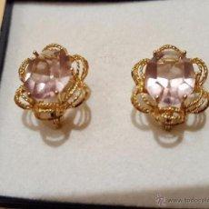Joyeria - Pendientes de oro 18 k y topacios rosas - 53663411