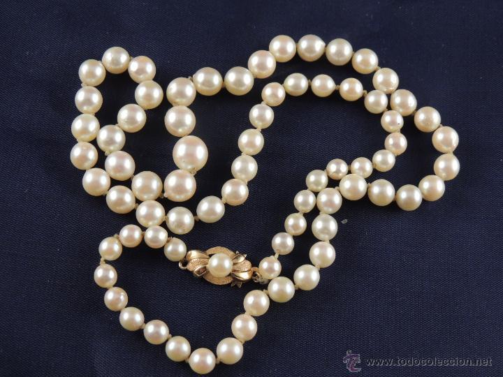 ac104dd0a056 Collar de perlas antiguo y cierre de oro - Vendido en Venta Directa ...