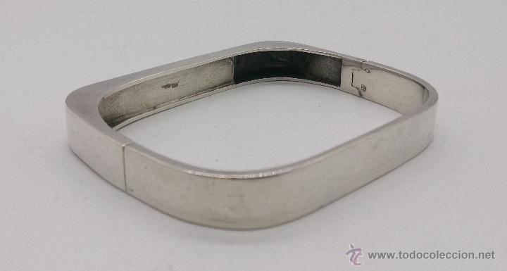 Joyeria: Brazalete antiguo en plata de ley con aplicaciones en color marfil, estilo art decó . - Foto 5 - 69868833
