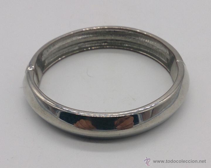 Joyeria: Brazalete vintage cromado en plata con circonitas . - Foto 4 - 54996828