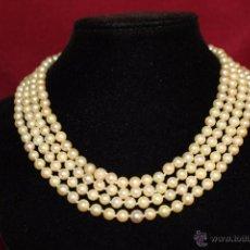 Joyeria - gargantilla en perlas muy antiguo y ORO - 55080212