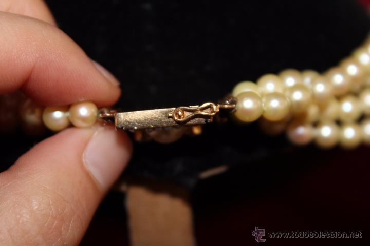 Joyeria: gargantilla en perlas muy antiguo y ORO - Foto 4 - 55080212