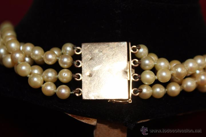 Joyeria: gargantilla en perlas muy antiguo y ORO - Foto 5 - 55080212