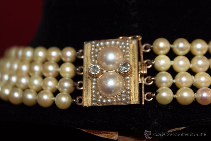 Joyeria: gargantilla en perlas muy antiguo y ORO - Foto 6 - 55080212