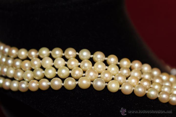 Joyeria: gargantilla en perlas muy antiguo y ORO - Foto 7 - 55080212