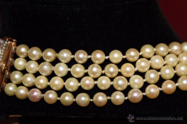 Joyeria: gargantilla en perlas muy antiguo y ORO - Foto 8 - 55080212