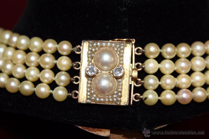 Joyeria: gargantilla en perlas muy antiguo y ORO - Foto 9 - 55080212