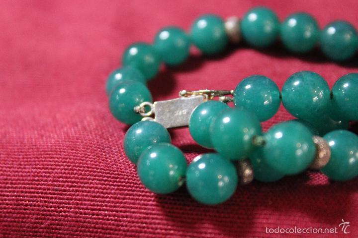Joyeria: Collar en plata plata 833 MARCADO CON CONTRASTE y jade - Foto 4 - 55120248