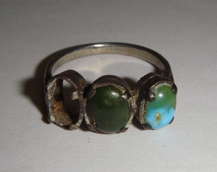 b4e49a7504dc anillo antiguo de plata. con piedras naturales. - Comprar Anillos ...