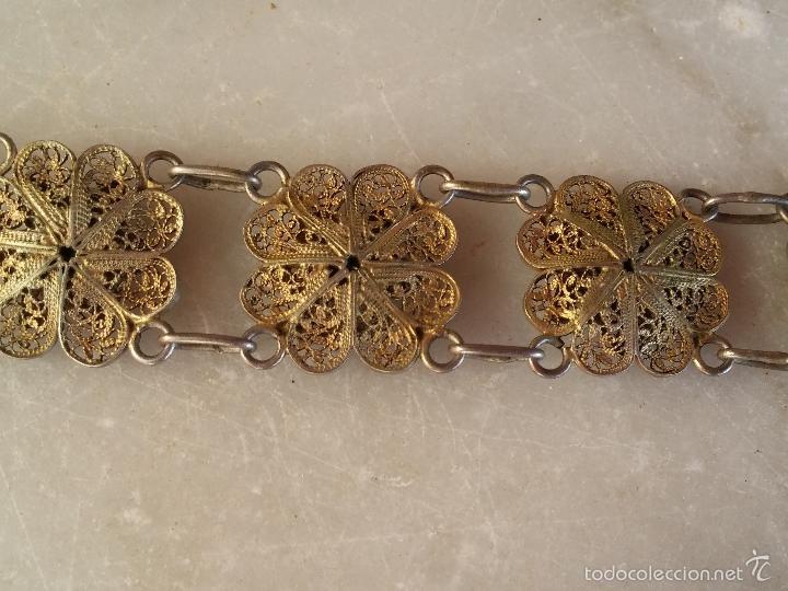 Joyeria: Antigua pulsera de filigrana en plata - Foto 4 - 56122576