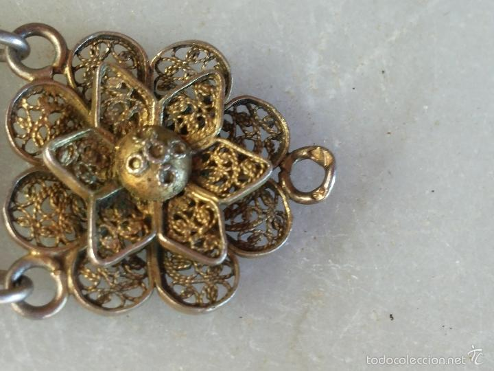 Joyeria: Antigua pulsera de filigrana en plata - Foto 8 - 56122576