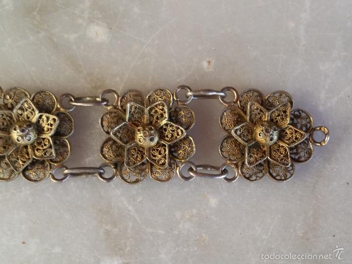Joyeria: Antigua pulsera de filigrana en plata - Foto 9 - 56122576