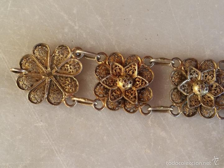 Joyeria: Antigua pulsera de filigrana en plata - Foto 12 - 56122576