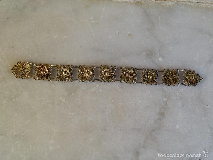 Joyeria: Antigua pulsera de filigrana en plata - Foto 13 - 56122576