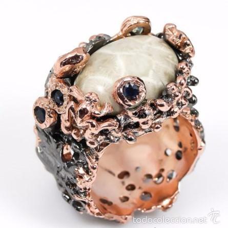 74ee33fea60d Anillo de plata fossil y zafiros. - Vendido en Venta Directa - 56506113
