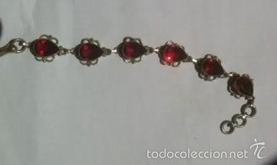 Joyeria: Brazalete pulsera plata y piedras granates - Foto 4 - 56546888