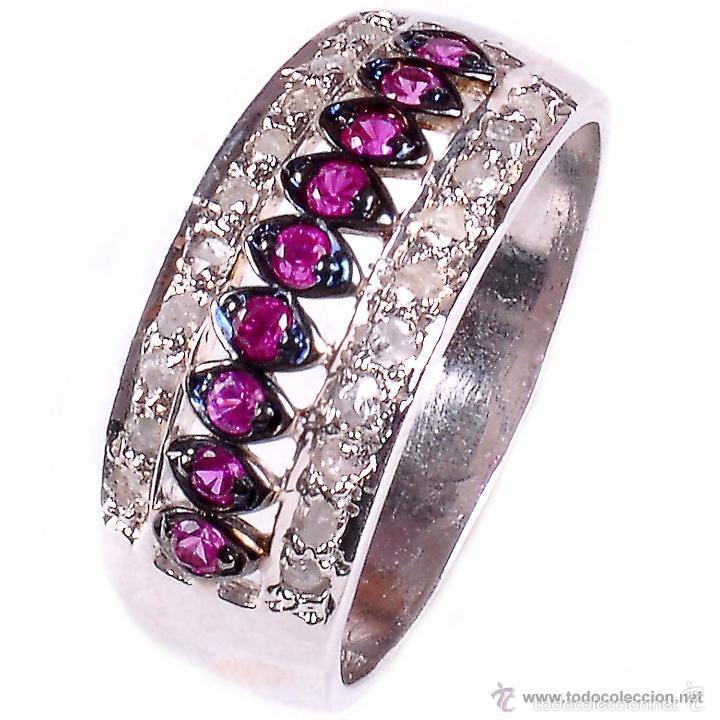 Anillos de plata 925 con diamantes