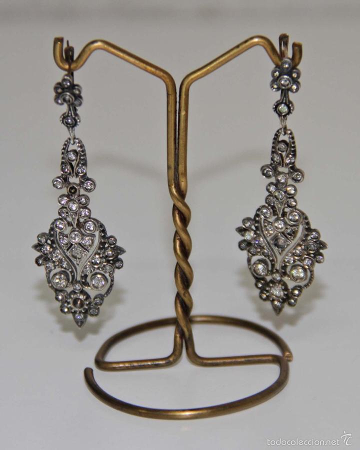 Pen068 pendientes art dec plata y cristal pr comprar - Art deco espana ...