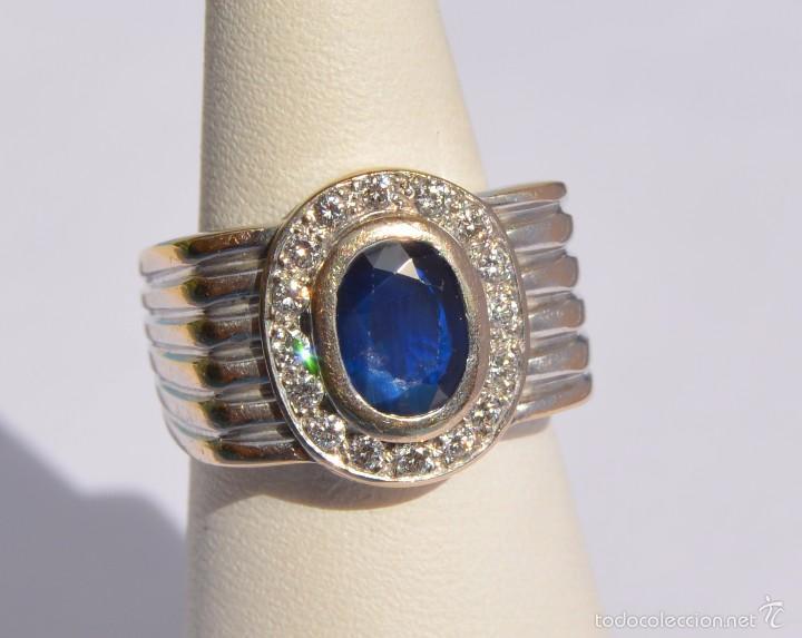 bfcbefa909c2 anillo chevalier oro blanco 18k zafiro natural - Buy Antique Rings ...