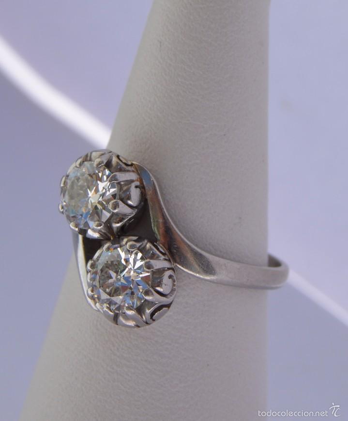 f14843136372 Joyeria  Anillo Tu y Yo de Platino Diamantes 1