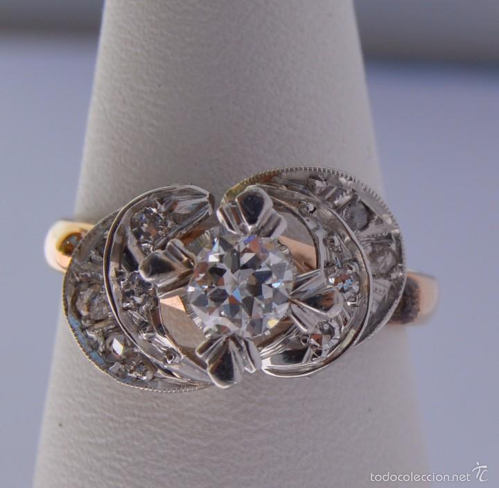 2f26d999a186 anillo solitario de oro 18k y platino con diama - Buy Antique Rings ...