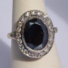 Jewelry - Anillo de Platino Oro Granate Demantoide negro 3CT y Diamantes 0,40CT / Demantoide - 56933747