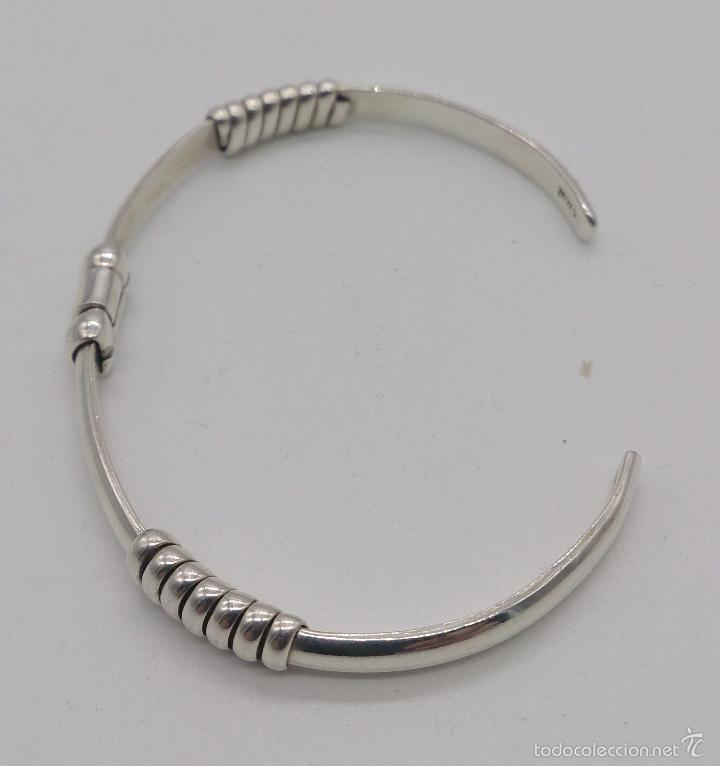 Joyeria: Original brazalete en plata de ley maciza y contrastada , estilo art decó , hecho en Cancún . - Foto 2 - 191230836
