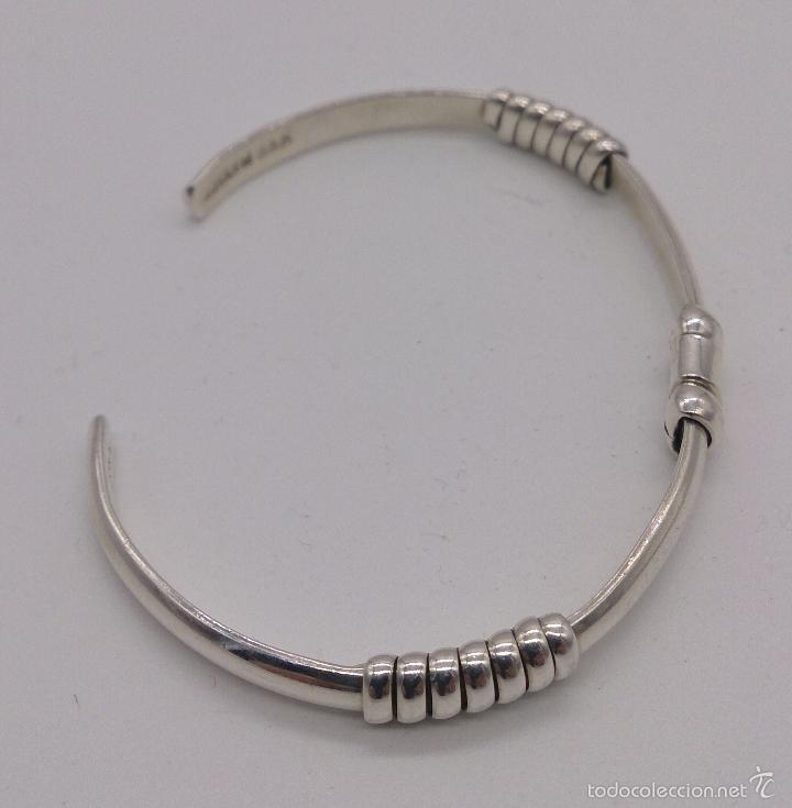 Joyeria: Original brazalete en plata de ley maciza y contrastada , estilo art decó , hecho en Cancún . - Foto 3 - 191230836