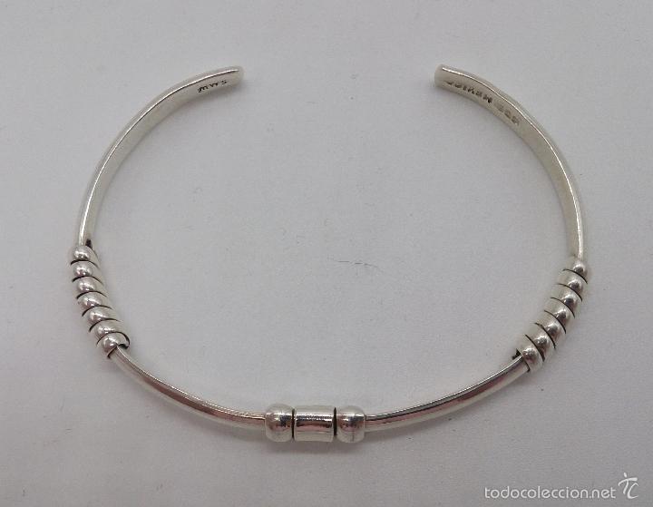 Joyeria: Original brazalete en plata de ley maciza y contrastada , estilo art decó , hecho en Cancún . - Foto 6 - 191230836