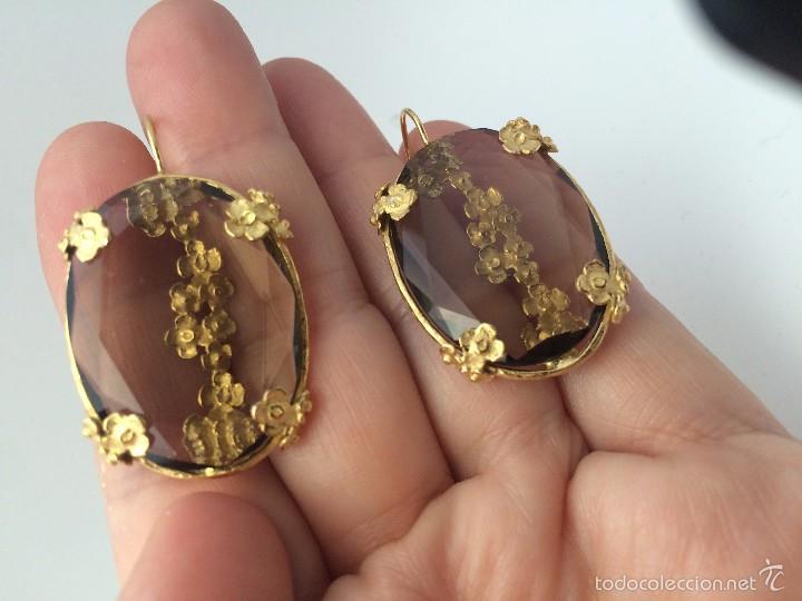 Pendientes de oro estilo antiguo