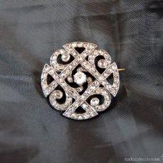 Joyeria: ANTIGUO BROCHE DEL SIGLO XX EN ORO 18K PLATINO Y DIAMANTES BROOCH DIAMOND PLATINUM ORO 18K. Lote 57518887