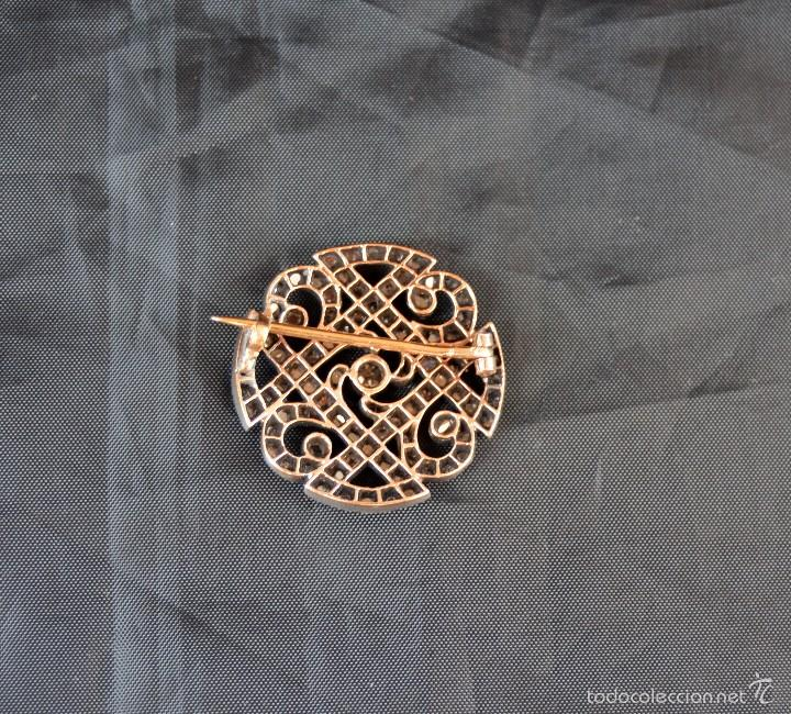 Joyeria: Antiguo broche del siglo XX en oro 18k Platino y diamantes Brooch Diamond Platinum Oro 18k - Foto 2 - 57518887
