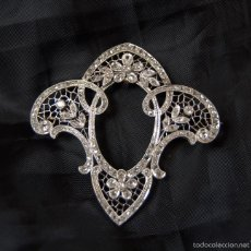 Joyeria: ART NOUVEAU 18K GOLD PLATINUM DIAMONDS BROOCH ANTIGUO HERMOSO BROCHE ART NOUVEAU. Lote 57518965