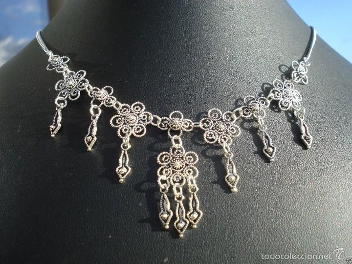 19e9289aa8a48 antiguo collar de filigrana de plata. - Comprar Collares Antiguos en ...