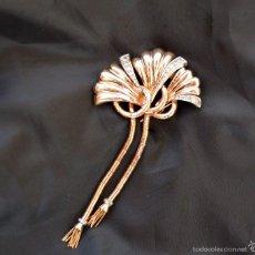 Joyeria: ANTIGUO BROCHE PINCHE AÑOS 40 ORO PLATINO Y BRILLANTES CIRCA 1940'S 18K YELLOW GOLD DIAMOND BROOCH. Lote 57679986