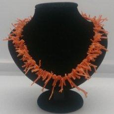 Jewelry - Bella gargantilla antigua de ramas de coral piel de angel, art decó . - 57858506