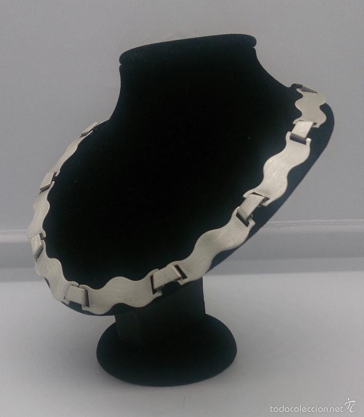 Joyeria: Gargantilla en plata de ley contrastada mate/brillante de diseño exclusivo y sofisticado . - Foto 2 - 58084167