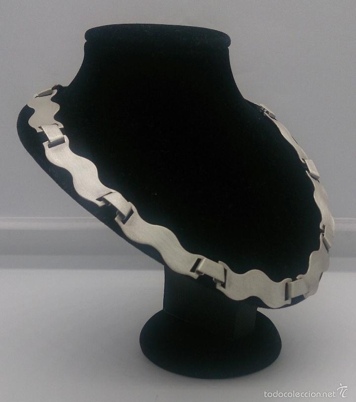 Joyeria: Gargantilla en plata de ley contrastada mate/brillante de diseño exclusivo y sofisticado . - Foto 3 - 58084167