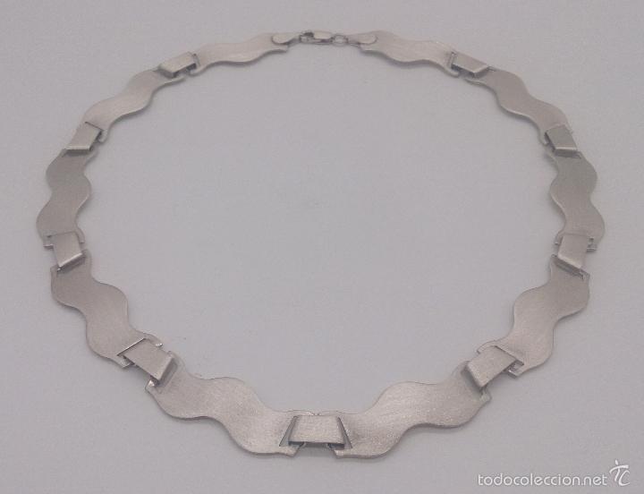 Joyeria: Gargantilla en plata de ley contrastada mate/brillante de diseño exclusivo y sofisticado . - Foto 4 - 58084167