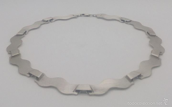 Joyeria: Gargantilla en plata de ley contrastada mate/brillante de diseño exclusivo y sofisticado . - Foto 5 - 58084167