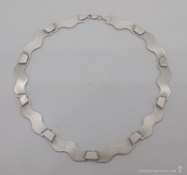Joyeria: Gargantilla en plata de ley contrastada mate/brillante de diseño exclusivo y sofisticado . - Foto 6 - 58084167